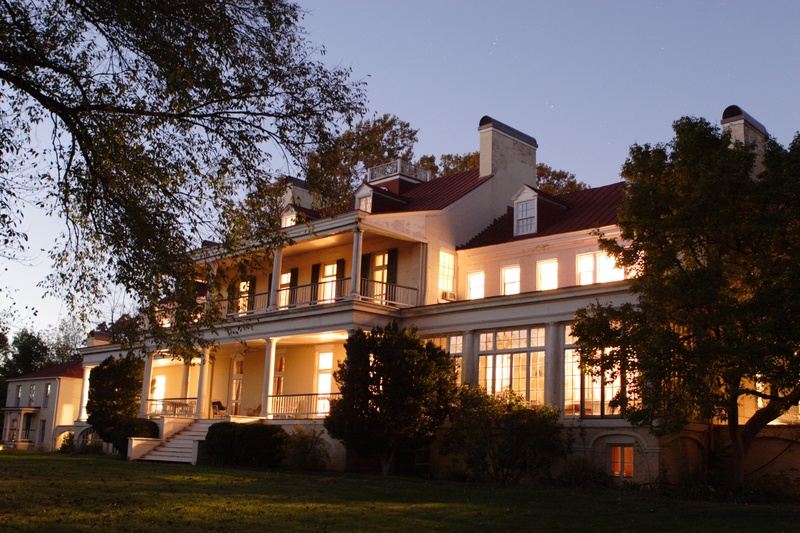 Claymont Mansion at Sunset