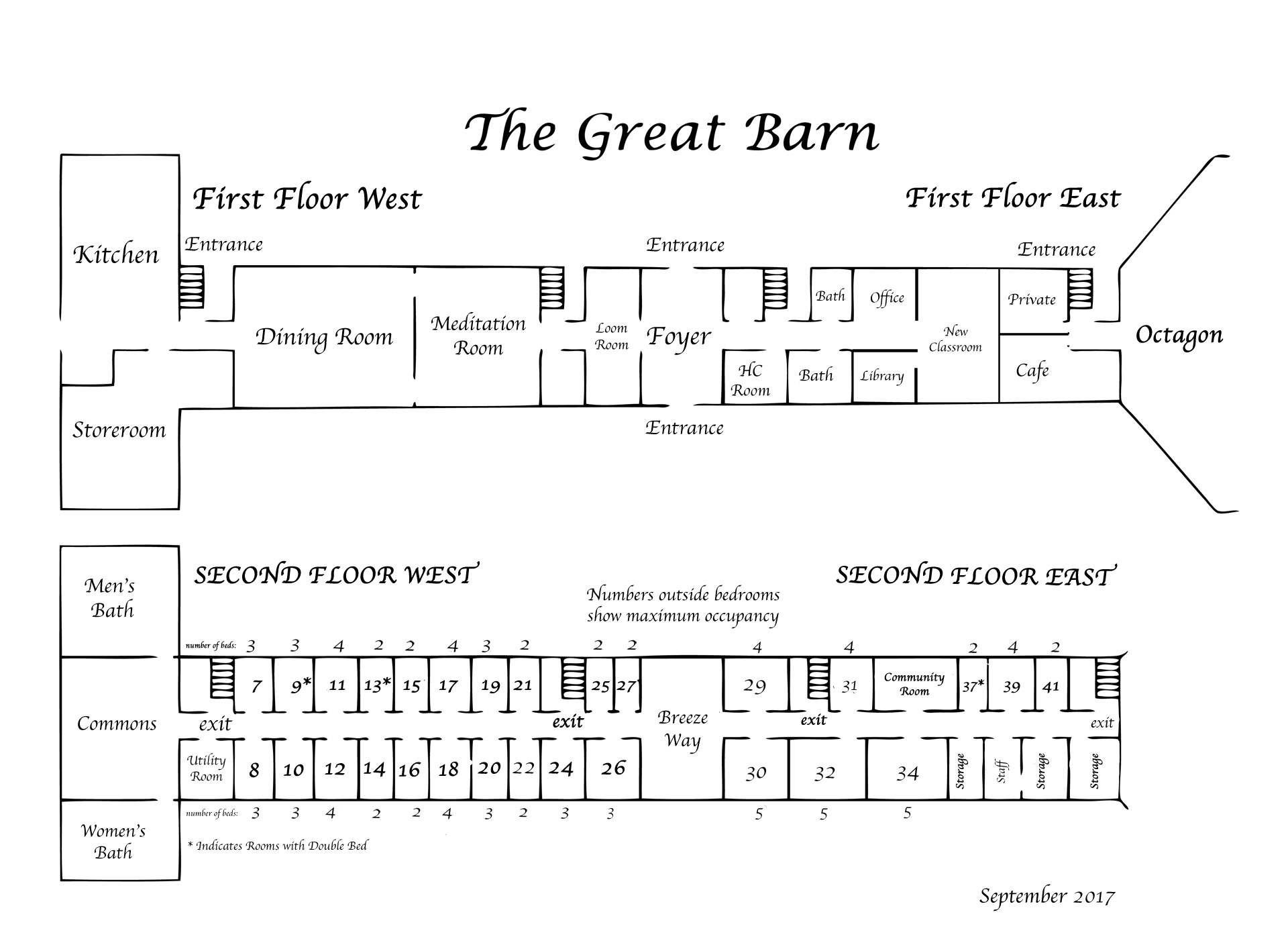 Claymont Great Barn Layout